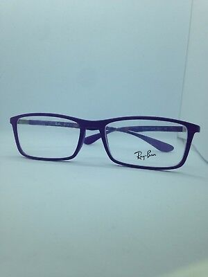 NEW AUTHENTIC RAY BAN RB 7048 5443 PURPLE FRAMES RX EYEGLASSES  56mm