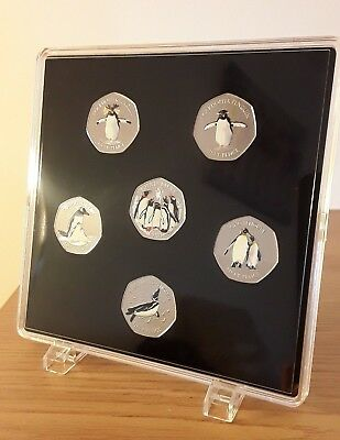 ACRYLIC COIN DISPLAY CASE,TRAY FOR 50 pence (6 slots) with display holders