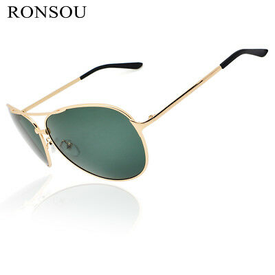9b7d9bea93 RONSOU Men Women Polarized Sunglasses UV400 Mirror Pilot For Driving Fishing