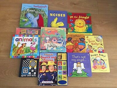 Baby Toddler Bundle Of Reading Books Magnetic Pieces Touchy Feel Books