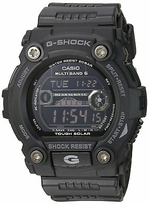 Casio G-Shock Men's Black Solar-Powered Atomic Shock & Water Resistant Watch