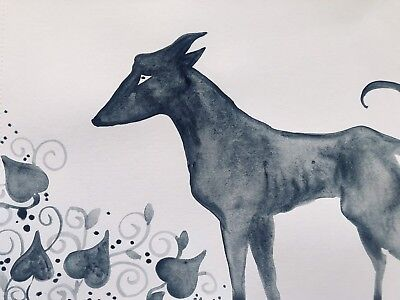 Let Their Hearts Grow. Sienna Mayfair Art Dog Painting A4 FREE POST
