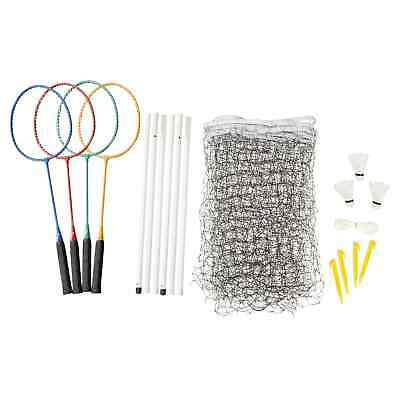 Kathmandu 4 Player Travel Camping Rackets Net Shuttlecocks Badminton Set