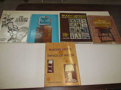 Lot of 5 Books, Antique Furniture Related