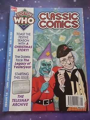 Doctor Who Magazine Classic Comics Issue 15 Fury From The Deep Telesnaps Dwm
