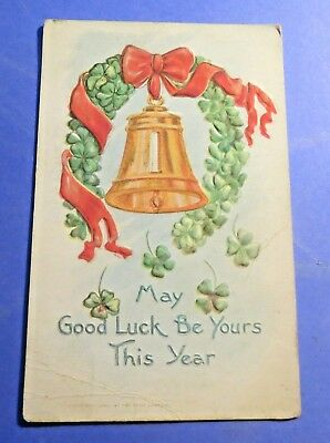 May Good luck be Yours DB Vintage Old  Postcard PC2616