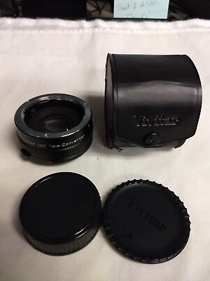Vivitar MC Tele Converter 2X-21 Lens Made in Japan For Olympus OM Film Camera