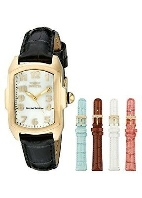 Invicta Vintage Lupah Mother of Pearl Dial Interchangeable Leather Ladies Watch