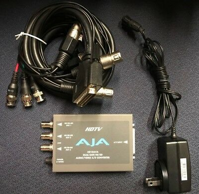 AJA Video HD10AVA Analog Audio/Video to HD/SD SDI converter & Cable-Used