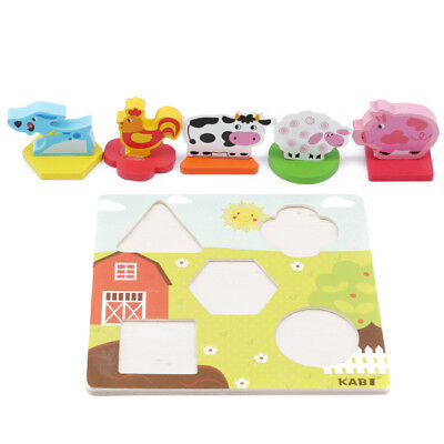 Development Baby Toys 3D Wooden Puzzle Cartoon Learning Educational Kids Toy D