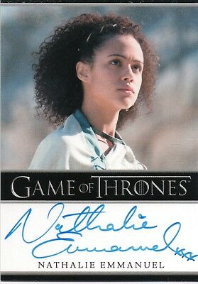 Game of Thrones Season 5, Nathalie Emmanuel 'Missandei' Autograph Card