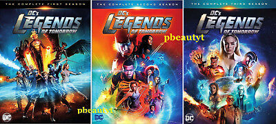 Legends of Tomorrow:Season 1-3(DVD Sets,12 Discs)NEW DC's First Second Third