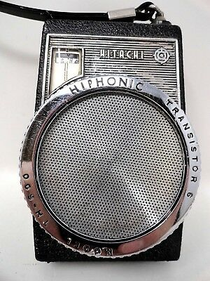 Vintage - Hitachi Hiphonic Transistor 6 - Model TH-600 - Pocket Radio - Working