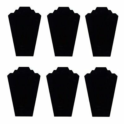 Black Velvet Necklace Jewelry Display Organizer Stand 6 Pcs Pack 12.5 Inches