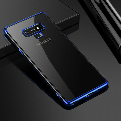 Slim Silicone Clear TPU Soft Case Cover for Samsung Galaxy Note 9 S8 Plus S9plus