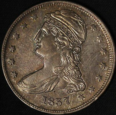 1837 Gobrecht's Capped Bust Half Dollar - Free Shipping USA
