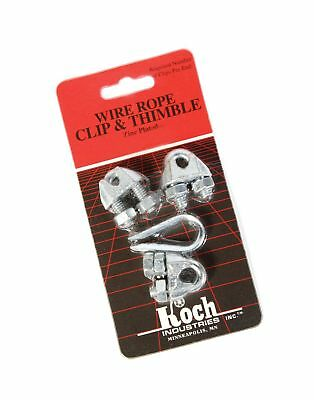 Koch Industries 143211 Wire Rope Clip and Thimble Pack with 3-Clips, 1/4-Inch...
