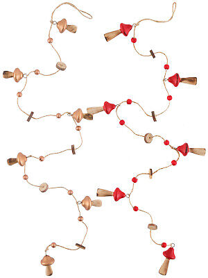 Toadstool Christmas Garland Woodland Fairytale Xmas Decoration Festive Ornament