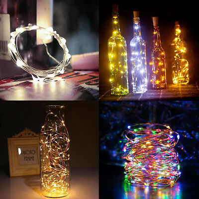 20 LED Cork Shaped Night Light Starry Lights Wine Bottle Lamp For Wedding Party
