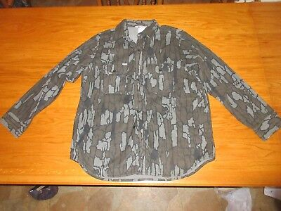 Vintage New Carhartt Trebark Lined Long Sleeved Button Up Shirt Made In USA XL