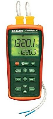 Thermocouple Thermometer,2 Input EXTECH EA15