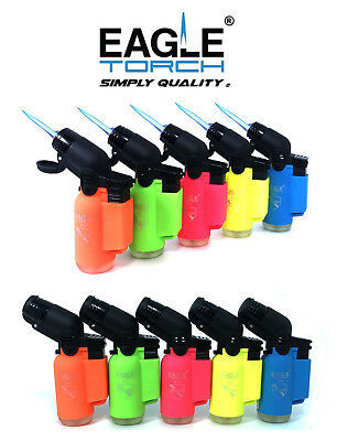 10 Pack Eagle Torch Neon Color 45 Degree Angle Jet Flame Lighter (V1.1)