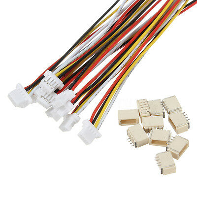 10Sets Micro SH 1.0 JST 4-Pin Connector plug Male with 100MM Wire cable & female
