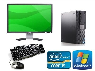FULL DELL/HP Core i5 i3 DESKTOP TOWER PC & LCD WINDOWS 10 16GB 2TB 240GB SSD
