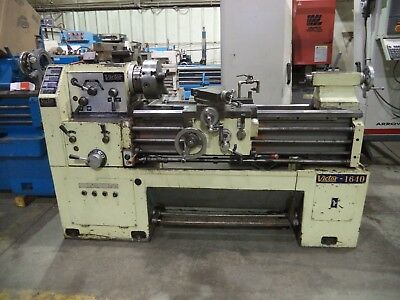 "Victor Model 1640, 16"" X 40"" Geared Head Engine Lathe w/ Taper, 10"" (3) Jaw"