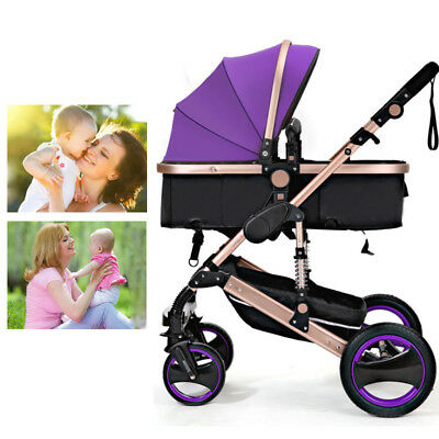 Baby Pram Complete Travel System Pushchair 3 In 1 Seat Carrycot Buggy Newborn