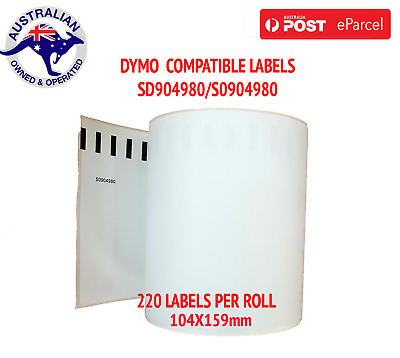 Dymo Compatible  4XL Extra Large Shipping Labels SD0904980 220 roll 104x159mm