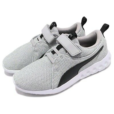 b0455c0ae9e Puma Carson 2 Bold Knit V PS Grey Black White Kid Preschool Shoes 191253-01