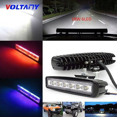 3Color 18W/800LM  Spot 6 LED Work Bar Driving Fog Light Offroad Car Lamp Truck
