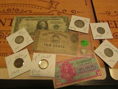Collection Of Old U.s. Coins And Currency  Set # 2    W/ 1863 Fractional Currenc
