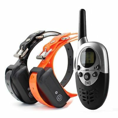 800m Waterproof Rechargeable Training Shock Collar for 1 or 2 Small M Large Dog