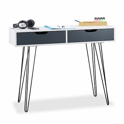 White Office Desk with Drawers, Workstation with Storage Space, Computer Desk