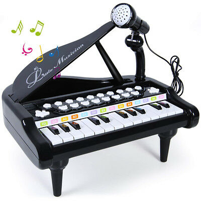 Piano Keyboard Toy 24 Keys Musical Learn-to-Play Piano for Kids Toddlers Singing