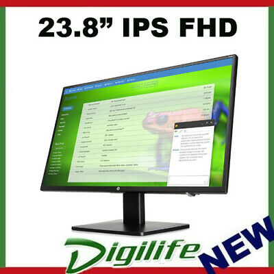 "HP P241v 23.8"" Full HD Anti-Glare IPS LED Business Monitor VGA/DVI/HDMI 24"""