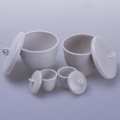 1pc 300ml Ceramic Crucible Cup With Cover Lab utensils