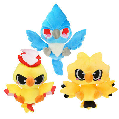 Pokemon Center Articuno Moltres Zapdos Plush Doll Figure Stuffed Toy 12 inch