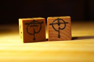 Vulcan Wooden Dice (Star Trek) hand burned   gifts for him   gifts for her