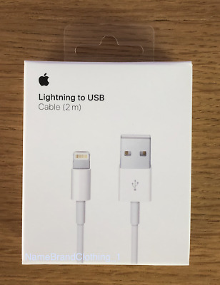New Original OEM Apple Lightning To USB Charging Cable iPhone 5,6s Plus 7 2m/6ft