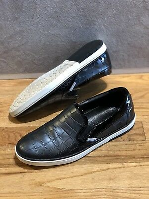 60c35b9d6ad3 Jimmy Choo Grove Croc Leather Shoes Asphalt Men Slip On Trainers Size 41.5  US 8