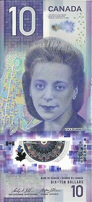 CANADA NEW $10 Bill with VIOLA DESMOND; Vertical Note; FREE SHIPPING