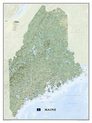 Maine [Tubed] (National Geographic Reference Map) **brand New**