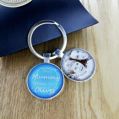 Personalised Photo Keyring Christmas Birthday Gifts Daddy Mummy Grandad Mother