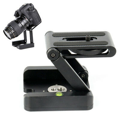 Folding Alloy Z Type Tripod Flex Pan Tilt Camera Head Stand Bracket Mount Black