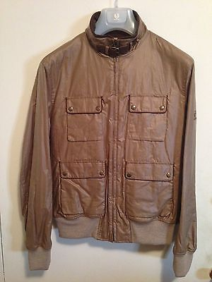 Belstaff Mens Gold Label Waxed Bomber Jacket Size Xxl $995 Made In Italy