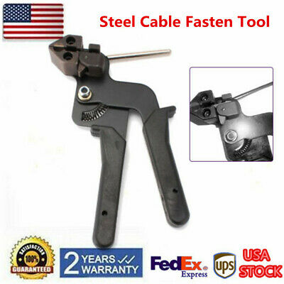 Metal Cable Tie Fasten Pliers Gun Stainless Steel Crimper Tensioner Cutter Tools
