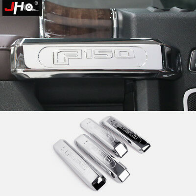ABS Chrome Accessories Inner Door Handle Cover Trim Kit For Ford F150 2015-2018